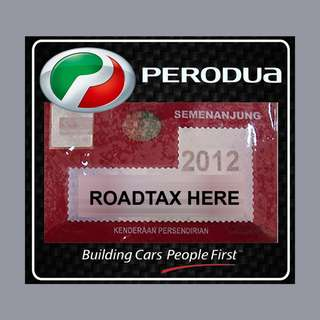 Road Tax Sticker - PERODUA