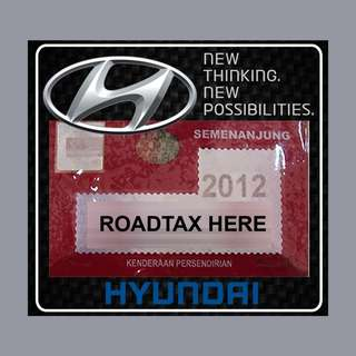 Road Tax Sticker - Hyundai