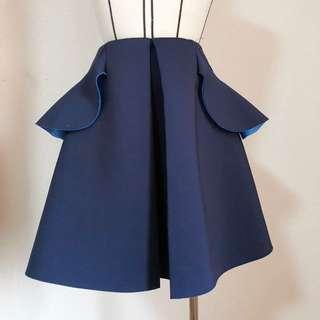 Blue neoprene skirt