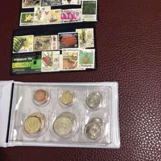 新加坡紀念幣(外加一些郵票