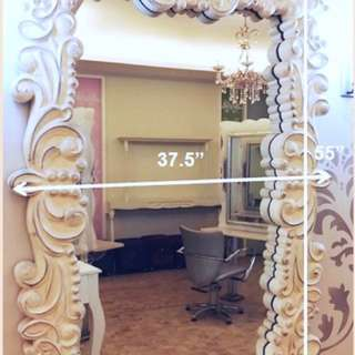 French-style wood mirror