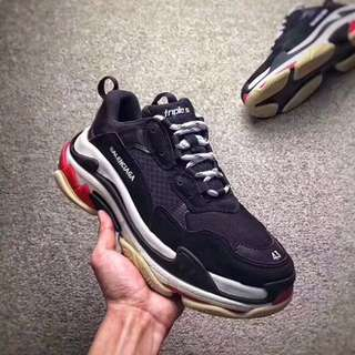 (Premium) Balenciaga Triple S Core Black