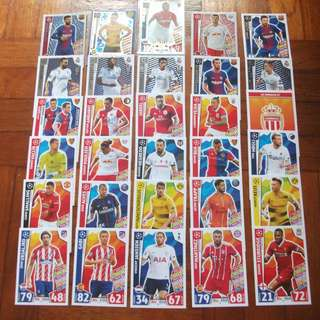 Match Attax Champions League 17/18 cards (Lot of 30 cards) for sale/trade