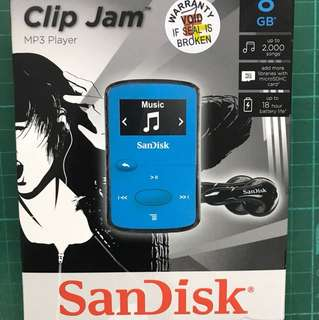 (Display set) Sandisk Clip Jam 8gb MP3 player cum FM Radio