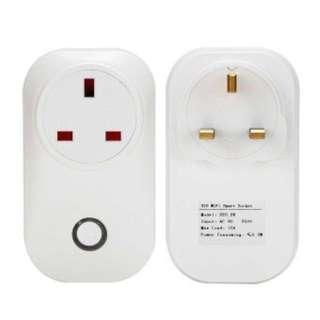 (Ready stock)S20 Phone Wifi Wireless Remote Control Switch Smart Power Socket Plug For Sonoff