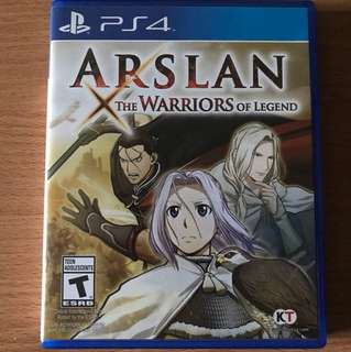 Ps4 Arslan the Warrior Of Legend