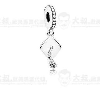【大叔歐美代購】 Pandora 潘朵拉 鑲鑽吊墬 925純銀珠 吊飾串珠 生日禮物 17新款 美國正品代購