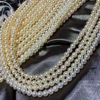 新🆕️到香檳金日本海水珍珠 之前有很多客戶要找這樣的貨 6.5到7M正圓極品珠光 比較乾淨 秒殺價格💰💰2xxx一條 超值哦 62顆 賣完即止