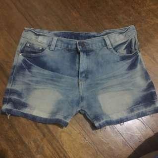 Maong shorts 1