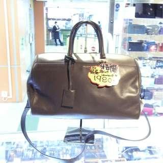 YSL Yves Saint Laurent Gray Leather Shoulder Hand Bag 聖羅蘭 灰色 牛皮 皮革 經典款 手挽袋 手袋 肩袋 袋
