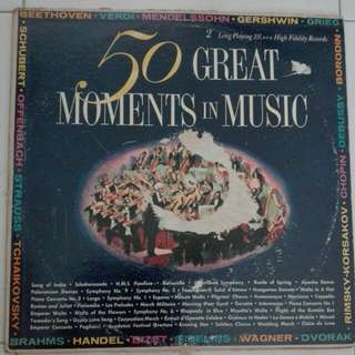 50 Great Moments In Music Vinyl LP Record