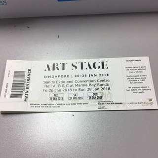 Artstage 2018 Entrance Tickets
