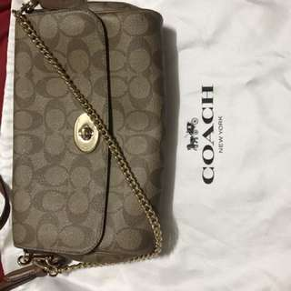 Coach Signature Clutch Sling Bag