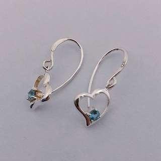 Prouds Sterling Silver Heart Hook Earrings
