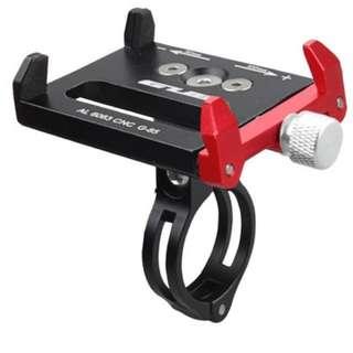 🆕! Aluminum Black & Red Anodized Handphone Holder hp holder   #OK