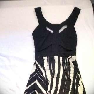 Reverse Cutout Asymmetric Mullet Dress S 8