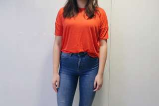 Brand new Monki red t-shirt top