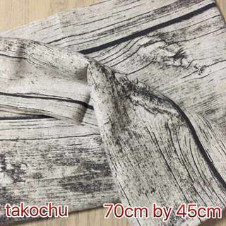 (RESTOCK) Wood Grain Fabric For Photography Background