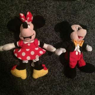Minnie and Mickey Mouse