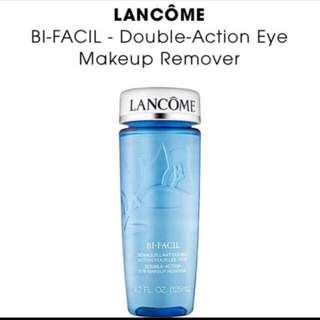Brand New 100% AUTHENTIC Lancome Bi-Facil Double Action Eye Makeup Remover/Non Oily Sensitive Eyes Instant Cleanser And Lancome Tonique Douceur Softening Hydrating Toner Alcohol Free