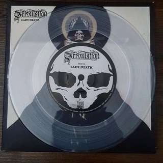 "Tribulation - Lady Death 7"" Clear Vinyl Record LP"