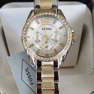 Fossil Women's ES3204 Two-Tone Stainless steel bracelet watch