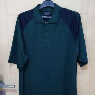 Baju Polo Hijau Bahan Polyester size XL