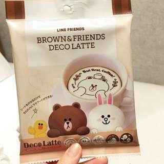[2月日本代購團] 日本 line friends store日本限定  飲品裝飾紙(可食用)