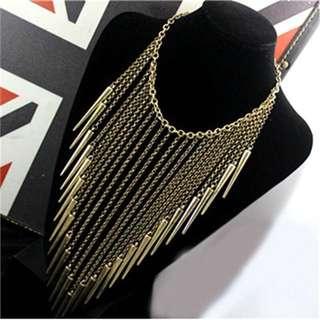 Long Chain Tassel Necklace