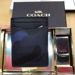 Coach 22532 藍色迷彩卡片套裝禮盒