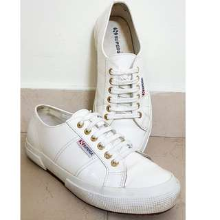 Superga Water-resistant White Shoes
