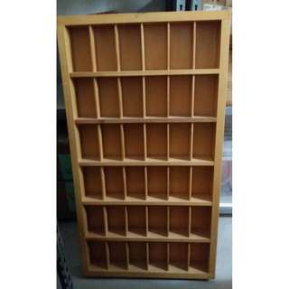 SOLID PINE WOOD WOODEN CABINET 69CM BY 125CM