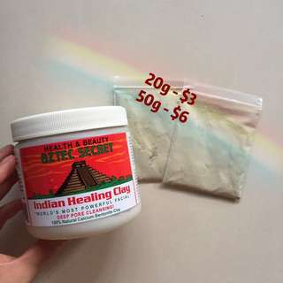 Aztec Clay Mask Sample 20g 50g