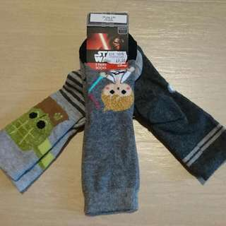 Brand New Mothercare Star Wars Disney Socks 3pairs Set EU 23-26 UK 6-8.5