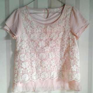 Light Pink Lacey Top