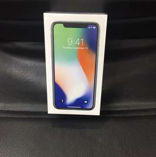 Brand new iPhone X 64gb silver