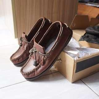 Sepatu Wakai Brown Leather Loafers Like New Original Size 42 Mulus Murah