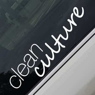 Clean Culture JDM Car Sticker Decal