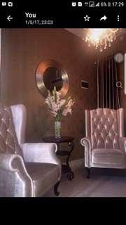 Dijual sepasang kursi Wing Chair elegant