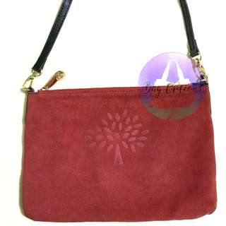 MULBERRY Suede Red Shoulder Bag/Clutch