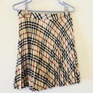 [九成五新]只有試穿-品牌momo 卡奇格子百摺裙(66號) (共1件)