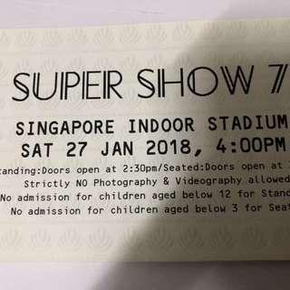 WTS Super Junior 7 ticket Standing A 1 pair