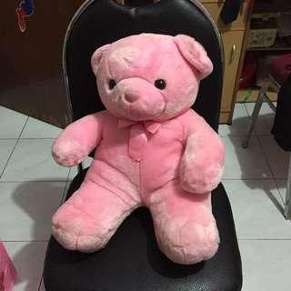BONEKA PINK TEDY BEAR BESAR