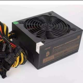 1600W Power Supply Gold Rated for Gpu Mining