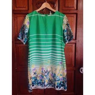 Nita Green Floral Dress