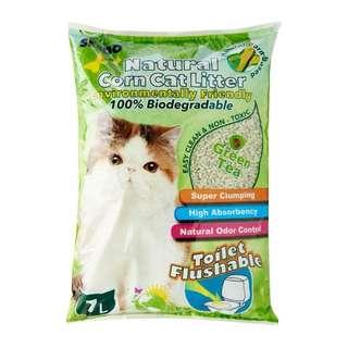 4 bags Seedo Natural Corn Cat Litter 7L