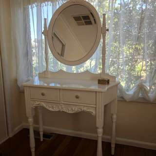 Vintage White dressing table/ vanity