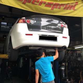 Mitsubishi Lancer Ex carbon fiber boot. Seibon CF ducktail boot