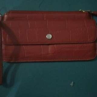 Genuine Leather wallet/cellet/wristlet