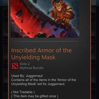 Buying Bundle  Armor of the unyielding Mask